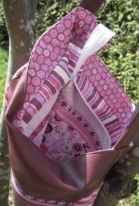 Kurventasche - zwei Aufsatztaschen innen