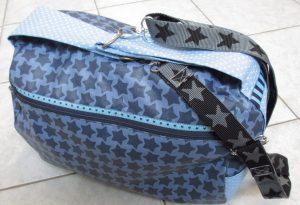 Zylindertasche - aufgesetzte Außentasche