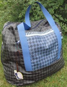 Reisetasche - blaue Außenseite