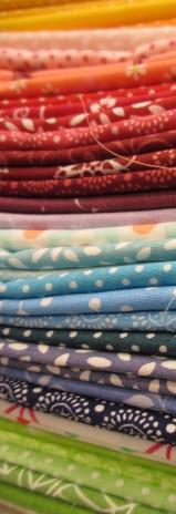 Stoffe für den neuen Quilt